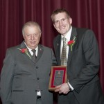 Rhode receives award from NIU President John Peters