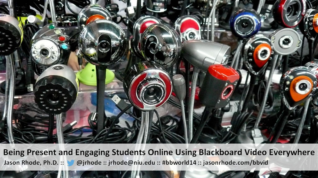 Engaging Students Online Using Blackboard Video Everywhere