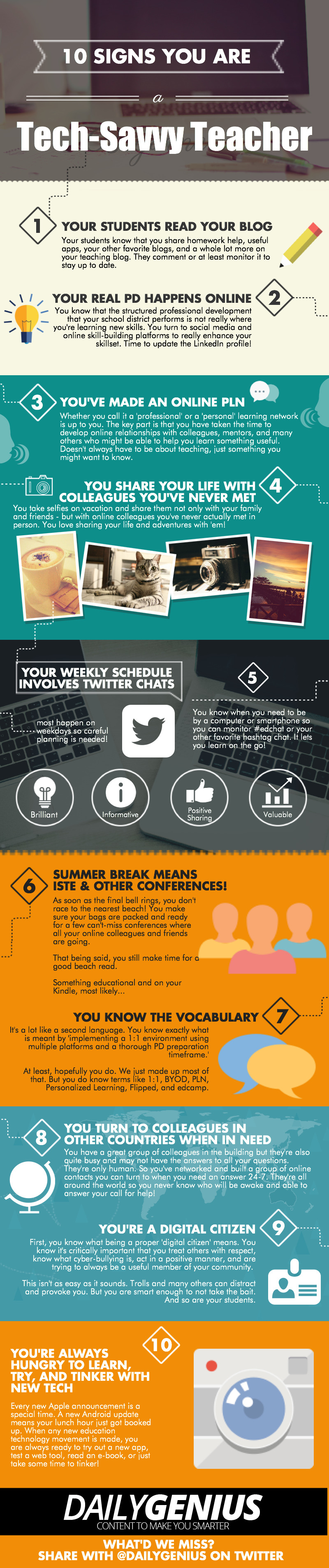 10 Signs You Are a Tech Savvy Teacher Infographic