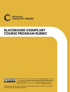 Bb Exemplary Course Rubric