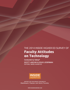 Faculty Attitudes on Technology