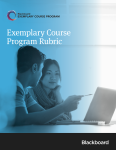 Bb Exemplary Course Program Rubric